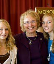 Sen. Judy Robson and Granddaughters
